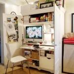 10-dulap birou cu usi si rafturi pentru laptop si diverse documente