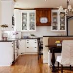 10-dupa transformare bucatarie moderna stil clasic mobila pe colt alb cu negru si maro