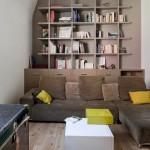 10-etajera living in ton cu peretele de accent