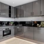 10-exemplu mobila bucatarie moderna culoare gri cu blat de lucru negru