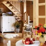 10-finisaje si mobilier din lemn in amenajarea unei case calduroase si sanatoase
