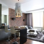 10-living open space amenajat in stil industrial minimalist