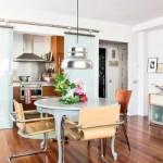 10-loc de luat masa piese de mobilier din diferite stiluri decor apartament 2 camere Madrid