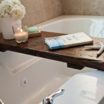 10-masuta mobila din scandura pentru cada din baie