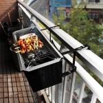 10-mini gratar tip jardiniera cu suport de agatare de balustrada balconului