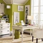 10-mobila alba pereti vernil birou amenajat in stil clasic