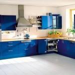 10-mobila albastra decor bucatarie moderna si luminoasa