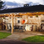 10-model bucatarie de vara rustica zidita din piatra