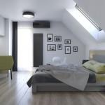 10-model dormitor mansardat modern cu patul asezat sub fereastra