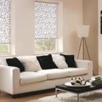 10-model rolete textile imprimeu alb negru decor ferestre living modern