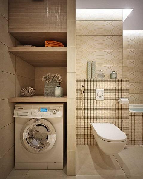 10-nisa perete baie moderna pentru masina de spalat haine