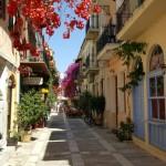 10-o strada superba in centrul istoric din Nafplio Grecia
