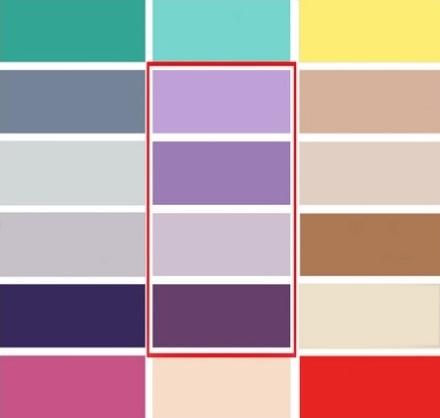 10-paleta cromatica asortare violet si nuantele lui