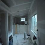 10-placare pereti interiori si tavan casa mica din lemn cu rigips
