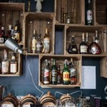 10-polite pentru sticle din cutii de lemn decor bar pentru curte sau gradina