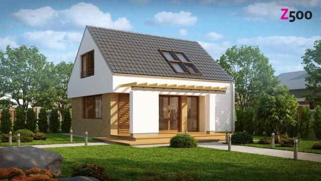 10-proiect casa de 100 mp cu parter si mansarda cu 4 dormitoare