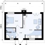 10-schita compartimentare interioara casa mica doar parter 1 dormitor si prispa