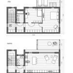 10-schita parter si etaj casa modulara prefabricata 121 mp Plusmodul