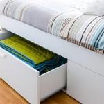 10-sertare depozitare integrate sub pat dormitor modern