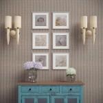 10-tablouri mici de forma patrata aliniate in doua randuri a cate trei