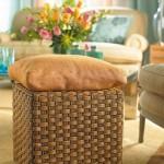 10-tabureta din rattan impletit living decorat cu textile bleu si bej