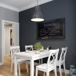 10-tapet decorativ aplicat pe peretele din dreptul locului de luat masa din bucatarie