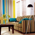 10-tapet in dungi verticale multicolore decor perete living retro