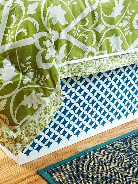10-textile colorate dormitor amenajat in culorile verii