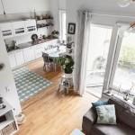 10-vedere spre living si bucatarie din dormitorul amenajat in loft