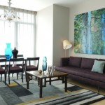 11-accente turcoaz decor living minimalist amenajat in tonuri de maro