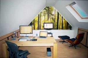 11-amenajare birou in mansarda