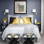 11-amenajare dormitor mic pereti zugraviti in albastru