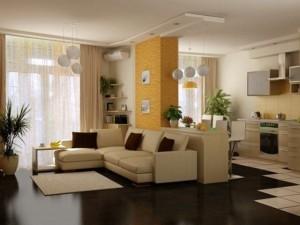11-amenajare open space modern cu bucatarie si living