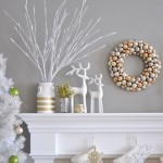 11-aranjament decorativ de Craciun pentru semineu living