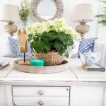 11-aranjament decorativ de vara pentru living cu hortensii