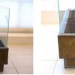 11-asezarea cutiei cu combustibil si a gratarului metalic in interiorul semineului