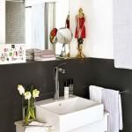 11-baie finisata in alb si negru apartament modern cu 3 camere