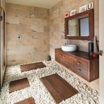 11-baie minimalista stil asiatic decorata cu piatra naturala