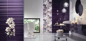 11-baie moderna combinatie de faianta alb si mov inchis