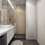 11-baie moderna cu cabina de dus cu peretii placati cu faianta ce imita lemnul