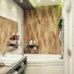 11-baie moderna cu peretii decorati in doua culori de faianta