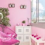 11-balcon zugravit si decorat in roz apartament cu 3 camere