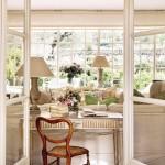 11-birou antichizat living casa veche din piatra Provence