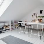 11-birou mic amenajat in mansarda apartament 3 camere