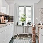 11-bucatarie alba moderna stil scandinav deschisa spre living