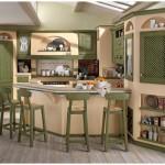 11-bucatarie inzidita stil traditional usi dulapuri lemn masiv culoare verde