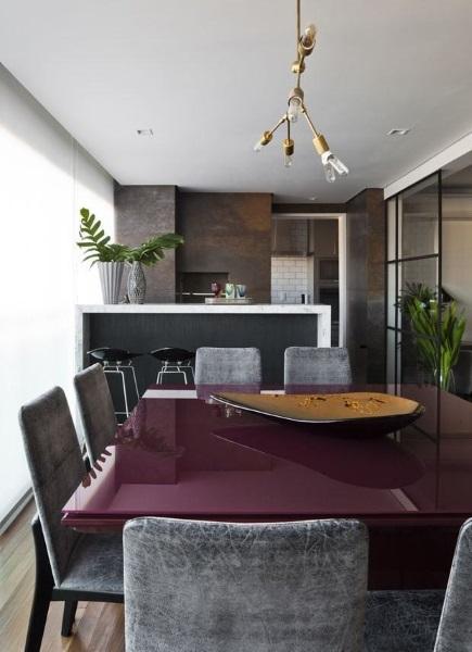 bucatarie moderna minimalista amenajata balcon apartament