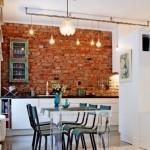 11-bucatarie moderna perete placat cu caramida