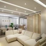 11-bucatarie separata vizual de living cu ajutorul unor jaluzele verticale