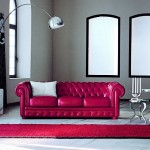 11-canapea din piele rosie clasica Chesterfield decor living modern